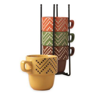 Tabletops Gallery® Oscar 5-Piece Stacking Mug Set