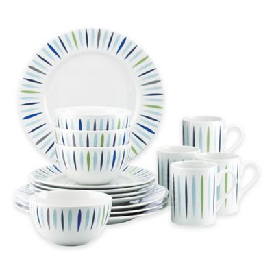 Dansk® The Burbs 16-Piece Starburst Dinnerware Set in Blue