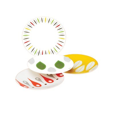 Dansk® The Burbs 4-Piece Multicolored Party Plate Set