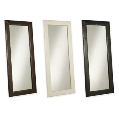 Abbyson Living® 30-Inch x 70-Inch Delano Leather Floor Mirror in White