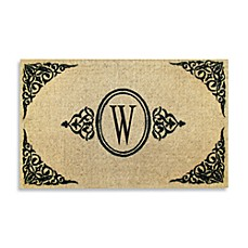 Royal Leaves 22-Inch X 36-Inch Monogrammed Doormat - W