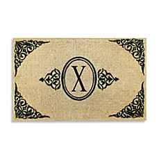 Royal Leaves 22-Inch X 36-Inch Monogrammed Doormat - X