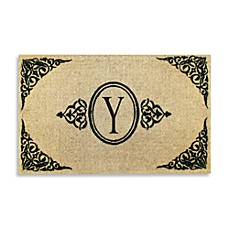 Royal Leaves 22-Inch X 36-Inch Monogrammed Doormat - Y