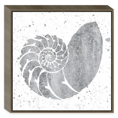 Silver Sea Life Nautilus Shell Framed Wall Art