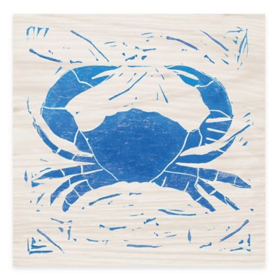 Blue Crab Sea Creature Wall Art