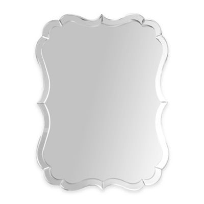 Abbyson Living® Olivia Rectangular Scalloped Wall Mirror