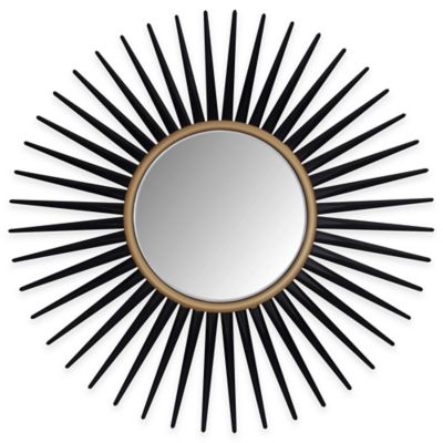 Abbyson Living® 33.5-Inch Alexia Wall Mirror in Black
