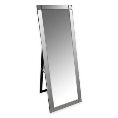 Abbyson Living® Clarendon Standing Floor Mirror in Silver