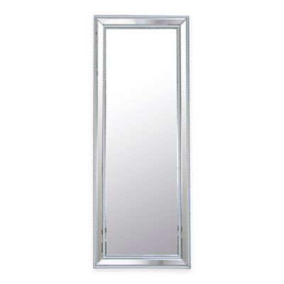 Abbyson Living® Venice Rectangular Studded Leaning Floor Mirror in Silver
