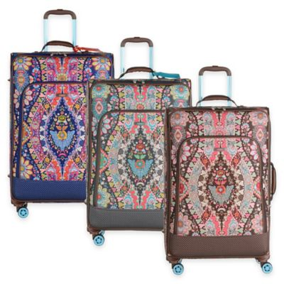 Oilily® Travel Expandable 30-Inch Softshell Trolley Suitcase in Brown