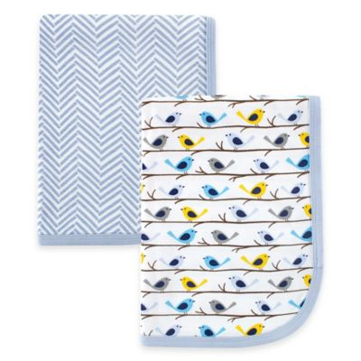 BabyVision® Hudson Baby® 2-Pack Swaddle Blankets in Blue Birds
