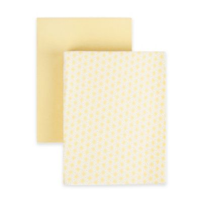 Tadpoles™ Starburst Collection Cotton Fitted Crib Sheets in Yellow (Set of 2)