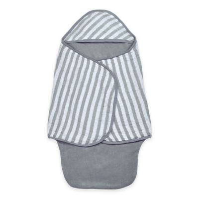 green sprouts® by i play® Organic Muslin Bath Swaddle in Grey