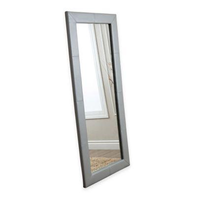 Abbyson Living® 30-Inch x 70-Inch Delano Leather Floor Mirror in Grey