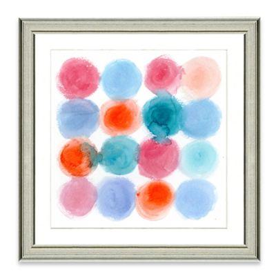 Watercolor Dots I Framed Art Print