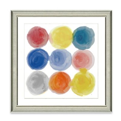 Watercolor Dots III Framed Art Print