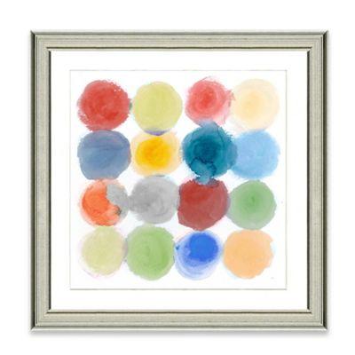 Watercolor Dots IV Framed Art Print