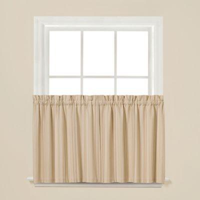 Barcode 36-Inch Window Curtain Tier Pair