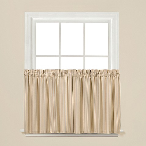 Buy Barcode 36 Inch Window Curtain Tier Pair From Bed Bath Beyond