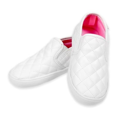 carter's® Size 5 Quilted Slip-On Shoe in White