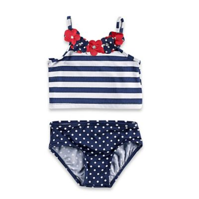 Baby Buns Size 18M 2-Piece Americana Swimsuit in Red/White/Blue