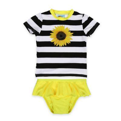 Baby Buns Size 12M 2-Piece Sunflower Rashguard Set