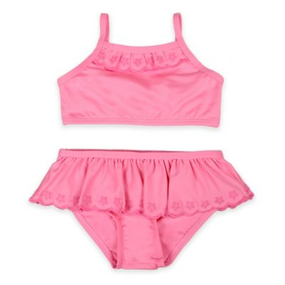 Baby Buns Size 3M 2-Piece Eyelet Swimsuit in Pink