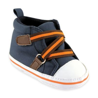 BabyVision® Luvable Friends® Size 6-12M Hi-Top Sneaker in Blue