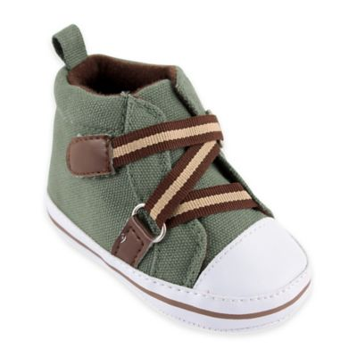 BabyVision® Luvable Friends™ Size 6-12M Zig Zag Hi-Top Sneakers in Green