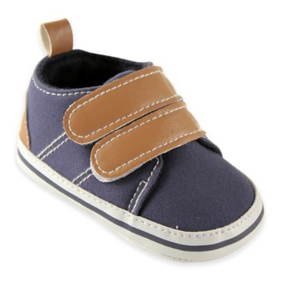 BabyVision® Luvable Friends™ Size 12-18M Hook-and-Loop Crib Shoe in Navy