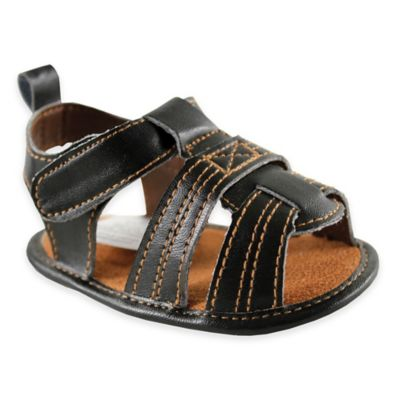 BabyVision® Luvable Friends™ Size 0-6M Casual Sandal in Black