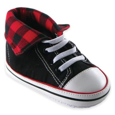 BabyVision® Luvable Friends® Size 6-12M Fold-Down Hi-Top Sneaker