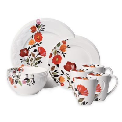 Kim Parker Collection Gourmet Basics by Mikasa® Tulips 16-Piece Dinnerware Set