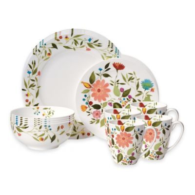 Kim Parker Collection Gourmet Basics by Mikasa® Woodland Floral 16-Piece Dinnerware Set