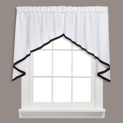 Taupe Swag Valance