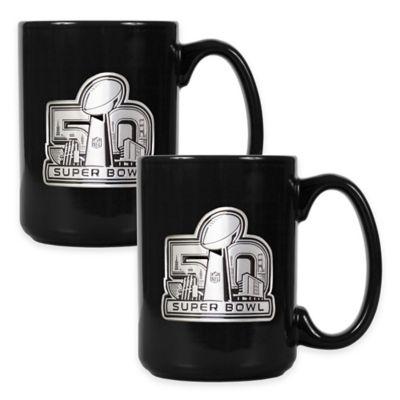 NFL Super Bowl 50 Ceramic Mugs (Set of 2)