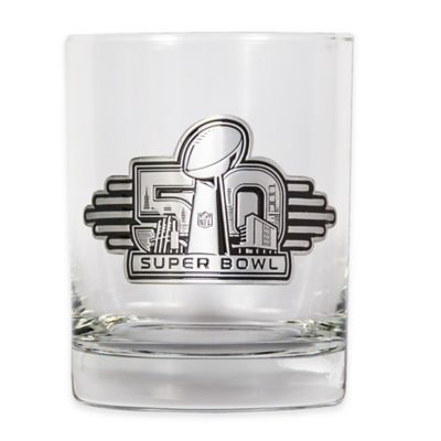 NFL Super Bowl 50 Rocks Glasses (Set of 2)