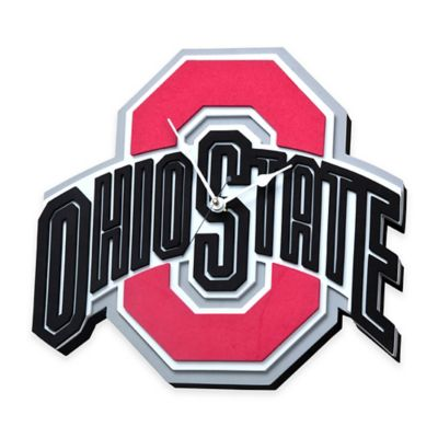 Ohio State University Buckeyes 3D Foam Wall Clock