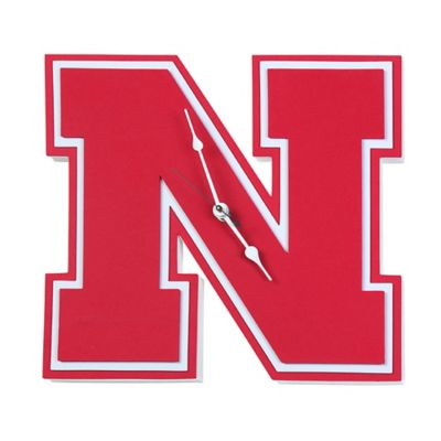 University of Nebraska Cornhuskers 3D Foam Wall Clock