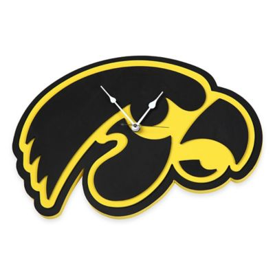 University of Iowa Hawkeyes 3D Foam Wall Clock