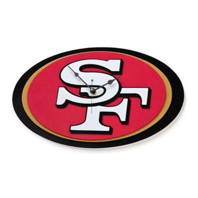 NFL San Francisco 49ers 3D Foam Wall Clock