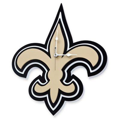 NFL New Orleans Saints 3D Foam Wall Clock