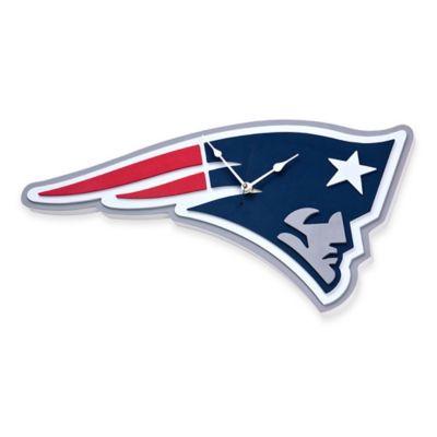 NFL New England Patriots 3D Foam Wall Clock