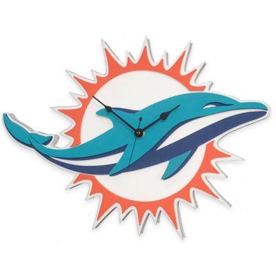 NFL Miami Dolphins 3D Foam Wall Clock