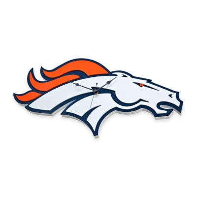 NFL Denver Broncos 3D Foam Wall Clock
