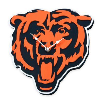 NFL Chicago Bears 3D Foam Wall Clock