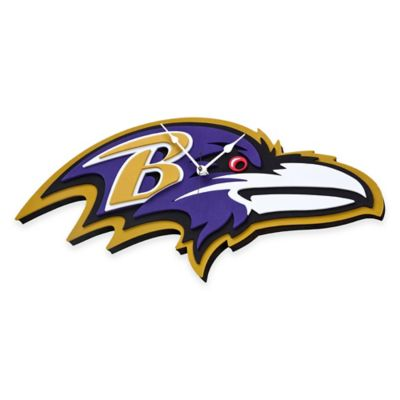NFL Baltimore Ravens 3D Foam Wall Clock