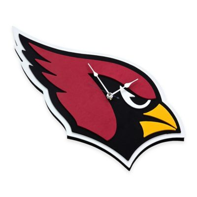 NFL Arizona Cardinals 3D Foam Wall Clock