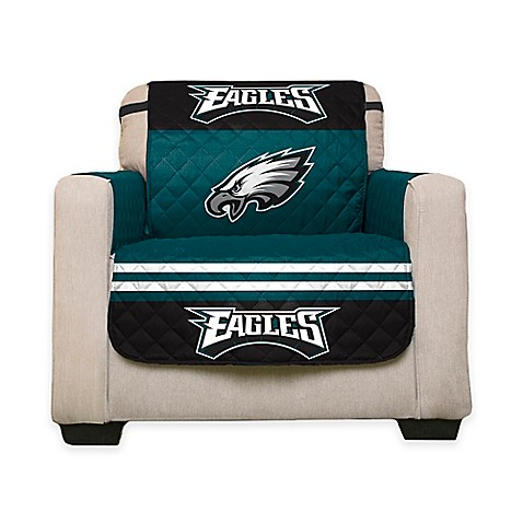 Nfl philadelphia eagles chair cover bed bath beyond for Nfl furniture covers