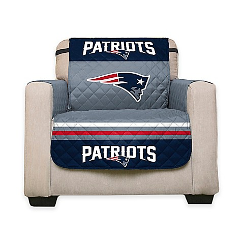 Nfl new england patriots chair cover www for Nfl furniture covers